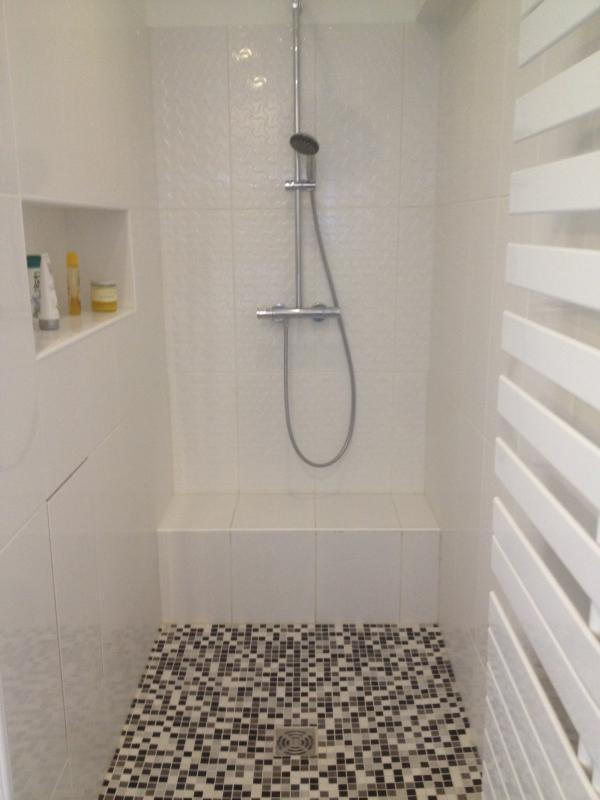 Cr ation salle de bains pose carrelage nanterre paris - Creation douche italienne ...